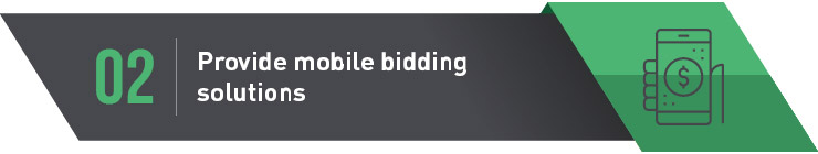 Planning and executing silent auction mobile solutions