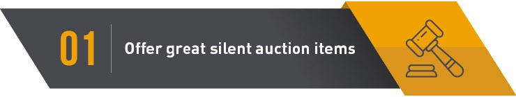 Silent Auctions planning Executing great items