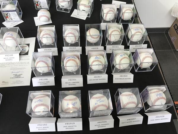 silent auction signed baseballs