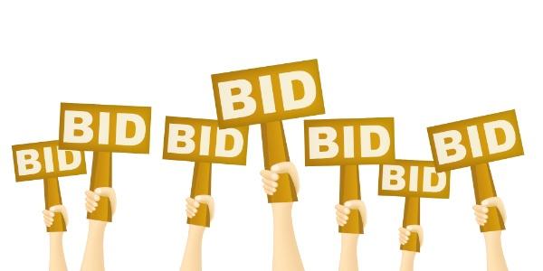silent auction bidding