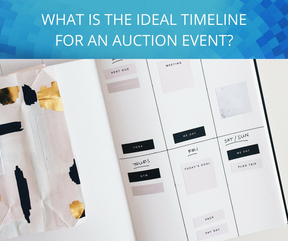 what is the ideal timeline for an auction event_